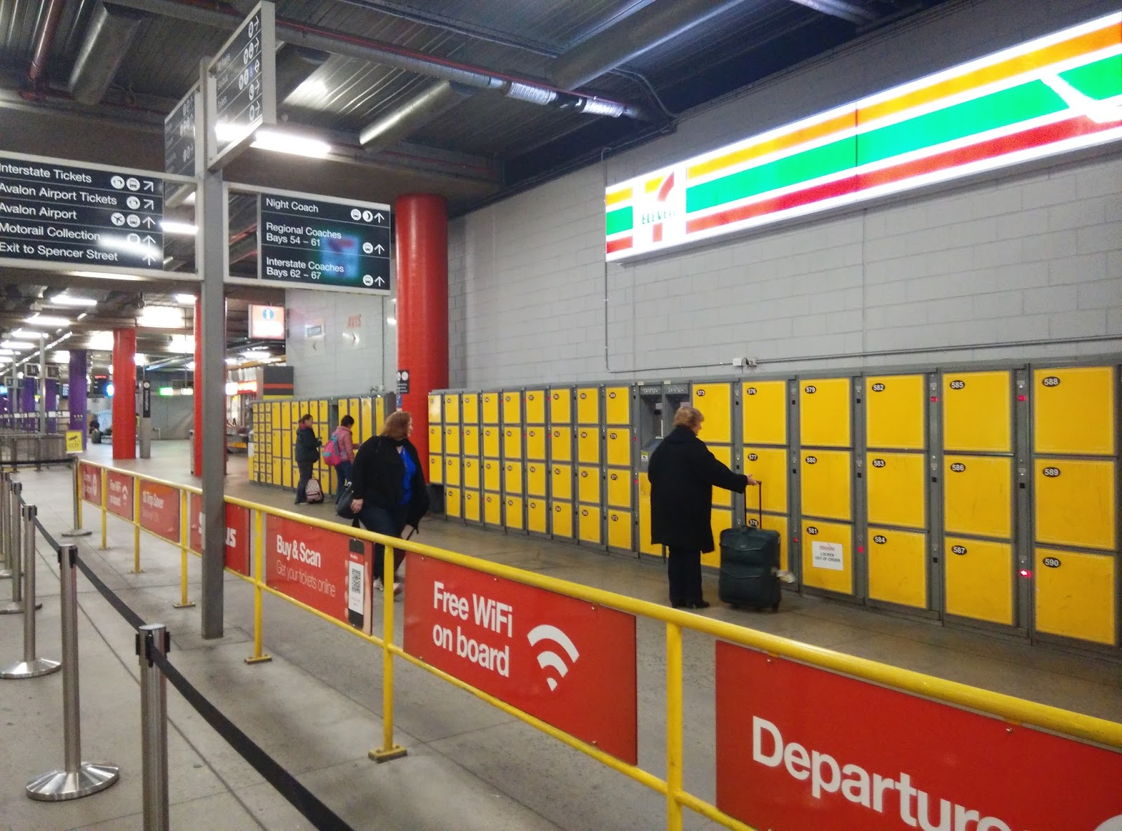 Luggage lockers are available in various sizes through out the station if you wanted to drop it off and not carry it around. Lockers are located within the ... & Southern Cross Railway Station Melbourne u2013 MyTravelGeno